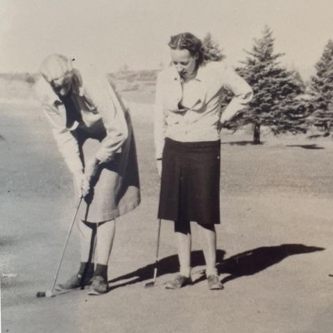 early womens golf